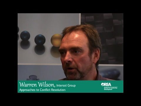 Warren Wilson, Approaches to Conflict Resolution