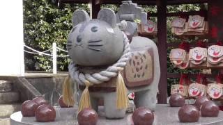 産泰神社・・重厚な屋根に圧倒されます・・前橋市下大屋町