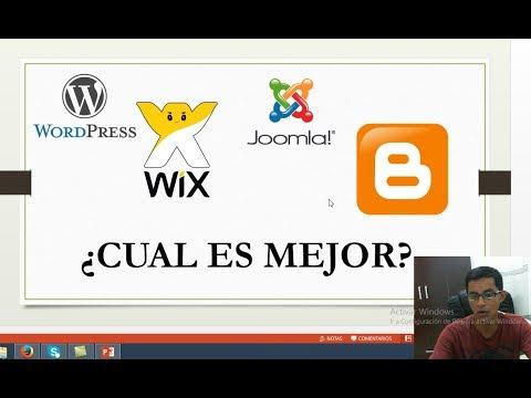 Wordpress Vs Blogger Vs Joomla Vs Wix - Cual Me Conviene?
