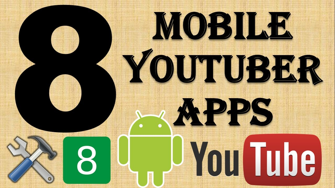 {HINDI} 8 mobile youtubers android app || manage your youtube channel on smartphone || android apps✔