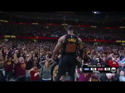 LeBron James' BUZZER BEATER to win game 5 vs Indiana Pacers!!