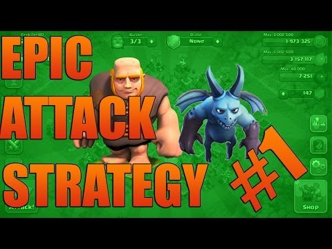 Epic Attack Strategys #1 | The Giant Minion Strategy | Clash Of Clans Attack Strategys