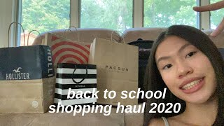 BACK TO SCHOOL SHOPPING HAUL 2020