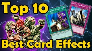 Top 10 Best Kinds of Card Effects in YuGiOh