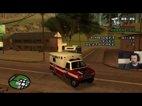 Grand Theft Auto: San Andreas HD playthrough pt59 - The Ambulance Finale!