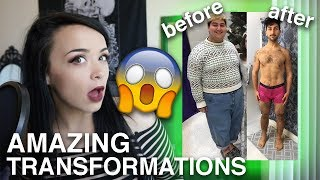 REACTING TO CRAZY WEIGHT LOSS TRANSFORMATIONS