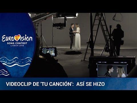 ** AMAIA Y ALFRED ** graban el VIDEOCLIP de 'Tu canción' (Making of) | Eurovisión 2018
