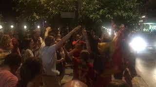 Καλαμάτα: Βέλγοι πανηγυρίζουν την  πρόκριση στους