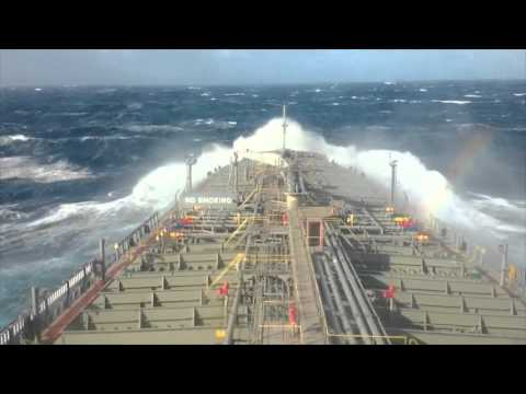 Rough Weather at Bay of Biscay