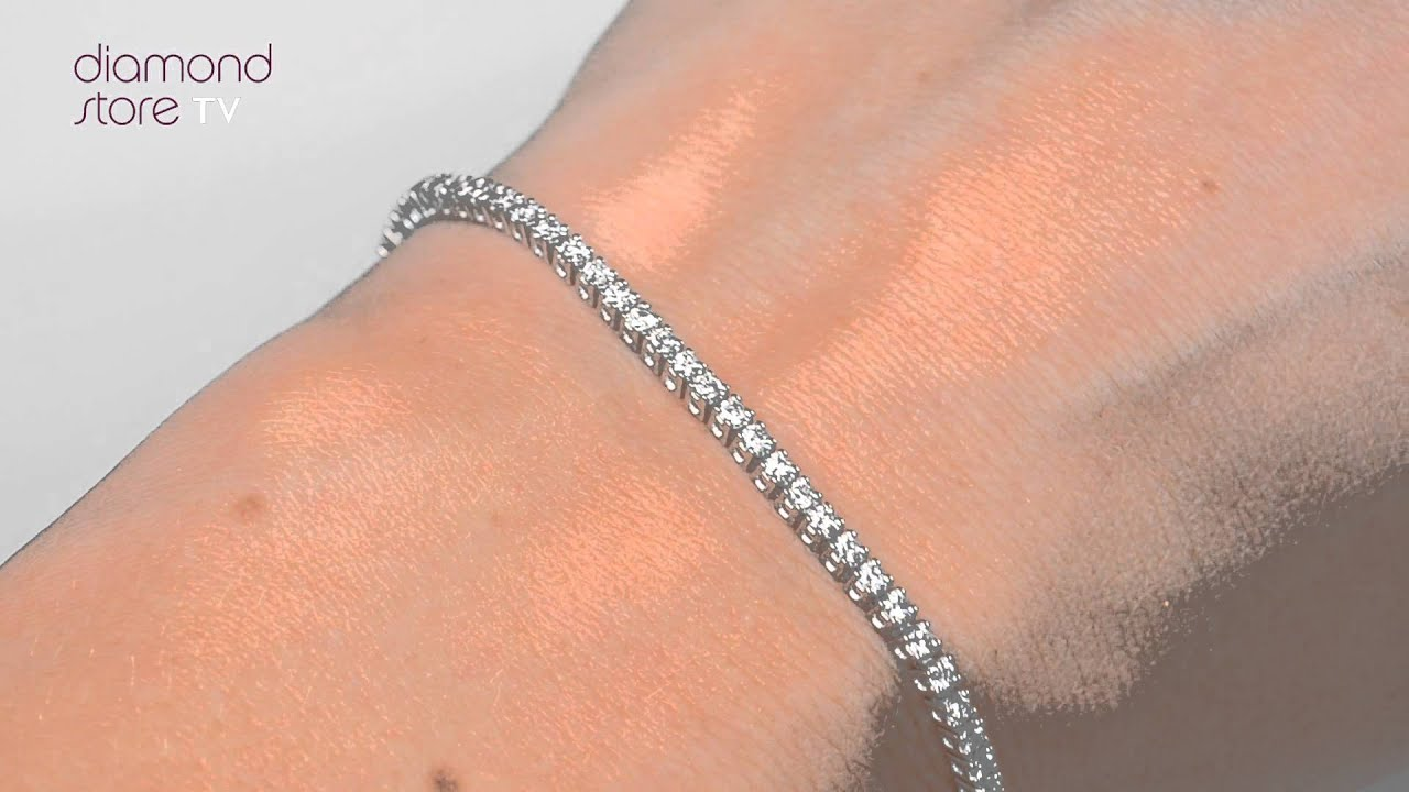 Diamond 2ct Tennis Bracelets Set In 18k White Gold Fdt23