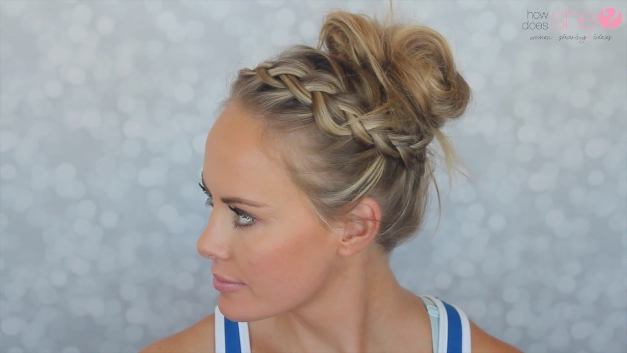 simple and cute gym hairstyle: see how easy it is.