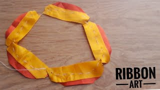 Amazing Ribbon Work|Hand Embroidery| Easy DIY Ribbon Flowers| Quicky Crafts