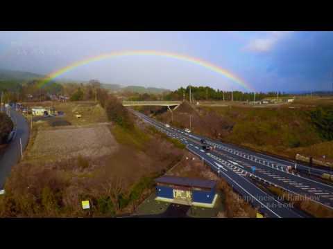 【 癒しの絶景 4K空撮 】幸せの 虹 琵琶湖 2017 滋賀県 高島市 ドローン【 3DR  solo smart - drone 】