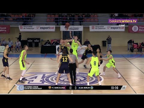 U18 -FC BARCELONA vs ALBA BERLIN - Torneo Junior Hospitalet 2019 (BasketCantera.TV)