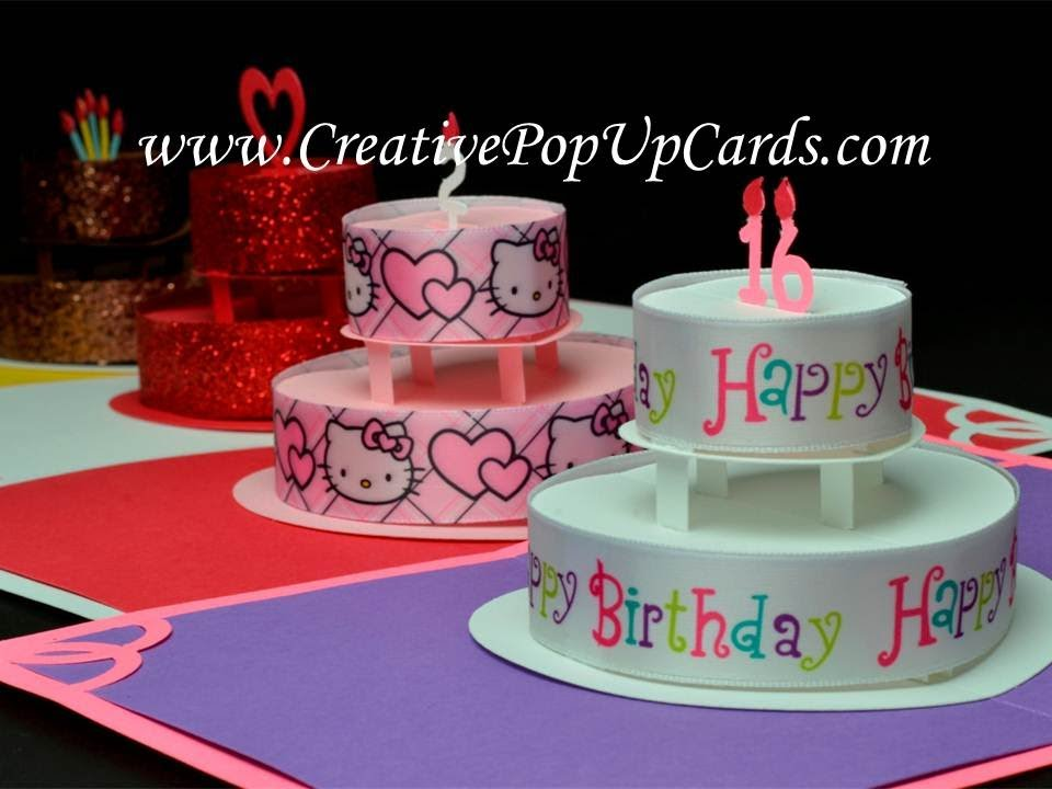 Birthday Cake Pop Up Card Youtube