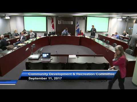 Community Development and Recreation Committee - September 11, 2017