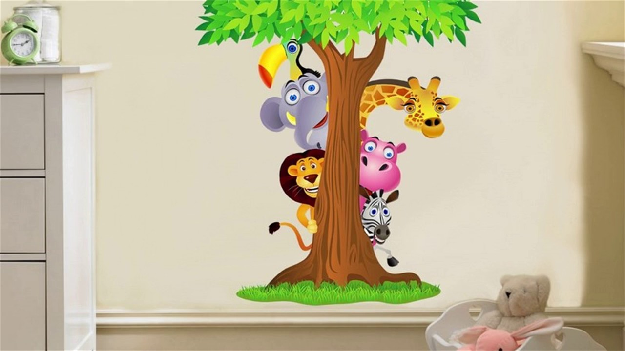 Removable Wall Stickers For Kids Bedrooms - YouTube