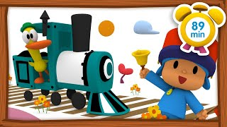 🚂 POCOYO in ENGLISH - Travel by train [89 min] | Full Episodes | VIDEOS and CARTOONS for KIDS