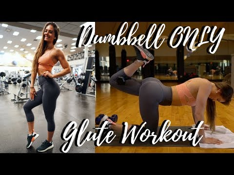 Dumbbell ONLY Glute Workout + How I'm Losing Fat