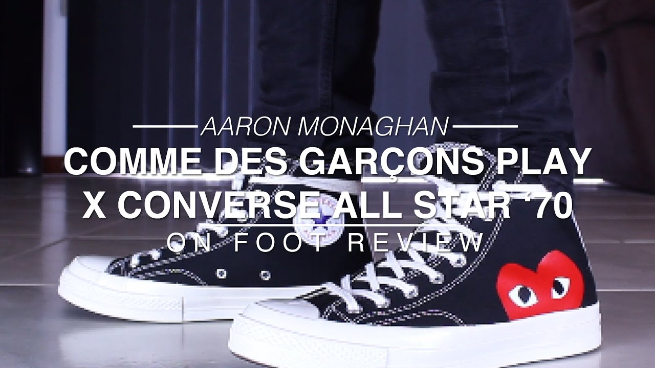 5eee06a7507385 Comme Des Garçons Play X Converse Chuck Taylor All Star  70 Review   On  Foot - YouTube