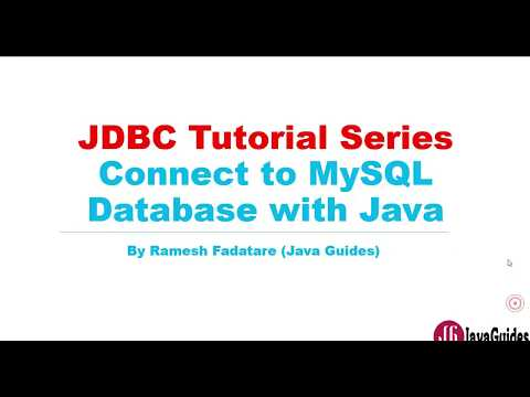 JDBC Tutorial - Part 2: Connect to MySQL database with Java