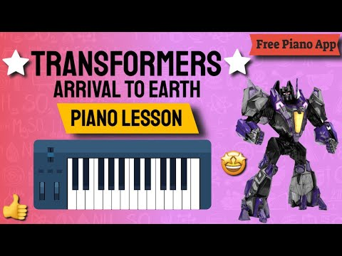 Transformers Arrival to Earth - Piano Lesson - Synthesia