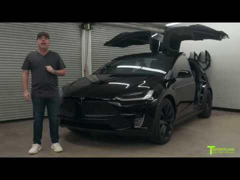Tesla Model X Murdered Out Black Out Chrome Delete Youtube