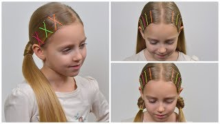 How To: Use Bobby pins | Bobby Pin Hairstyles for Long Natural Hair 💜 Easy hairstyles for girls #62