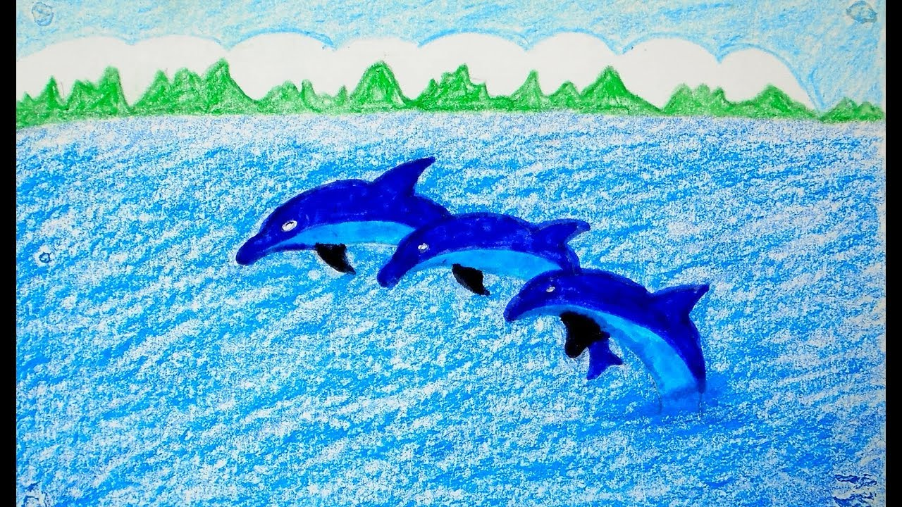 Scenery Drawn Easy Dolphin Drawing Pictures Www Picturesboss Com