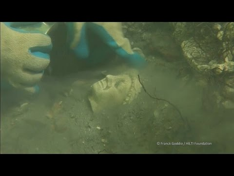 Egyptian Artifacts Buried Underwater On Display In Paris
