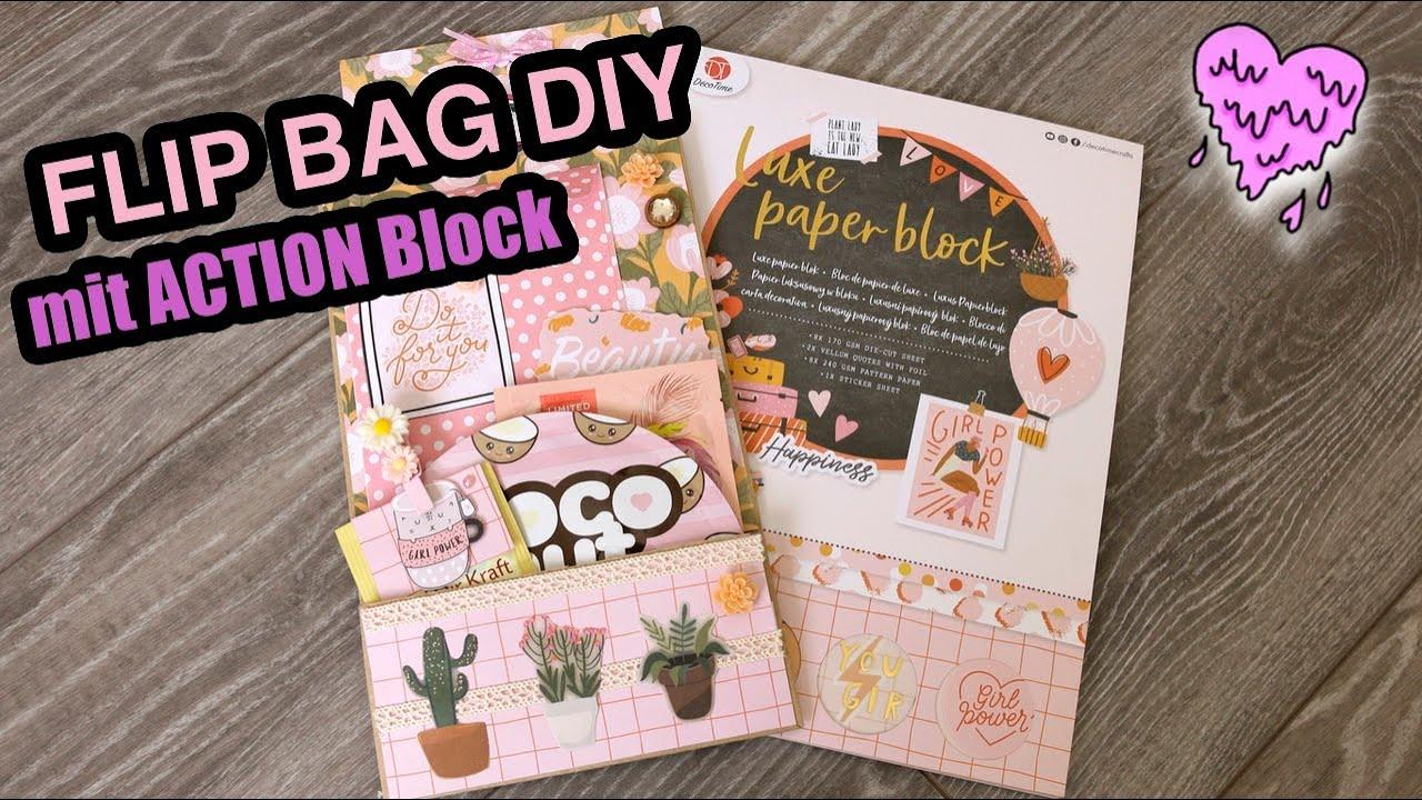 DIY FLIP BAG mit LUXE PAPER BLOCK von ACTION 🎀