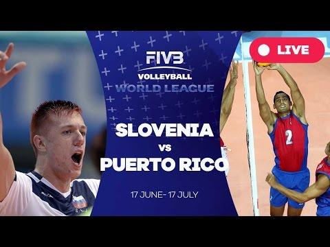 Slovenia v Puerto Rico - Group 3: 2016 FIVB Volleyball World League
