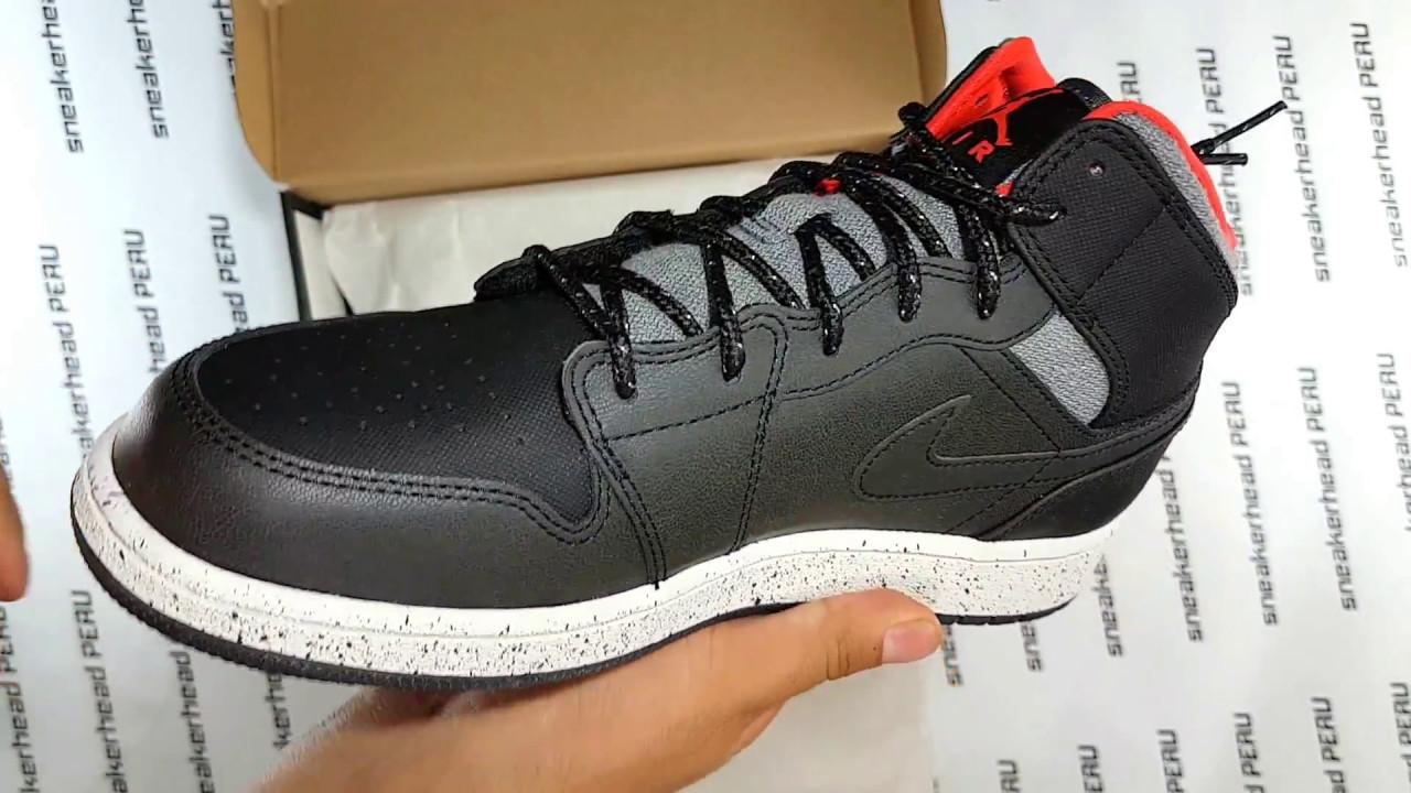 f1363ce5bac8e Air Jordan 1 Mid Holiday   Unboxing Sneakerhead Perú - YouTube