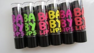 Maybelline Baby Lips Electro Collection Review & Swatches