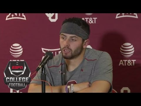 "Baker Mayfield on pinning the flag: ""Nobody picked us on GameDay"" 