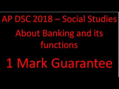 AP DSC Social Studies    About Banking