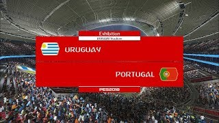 Uruguay vs Portugal I Round of 16 FIFA World Cup 2018 I PES 2018 Gameplay