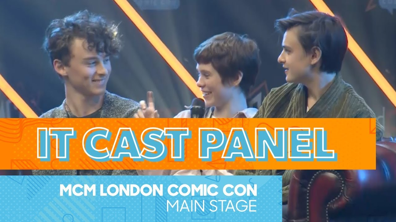 Download Three Kids and IT Panel | Sophia Lillis, Wyatt Oleff, Jaeden Martell | MCM Comic Con