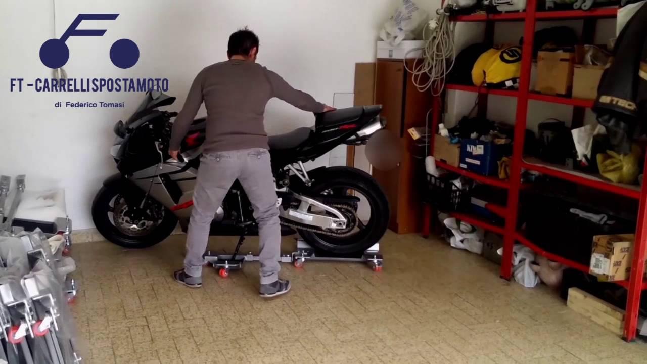 Ft1s carrello sposta moto youtube for Carrello sposta auto