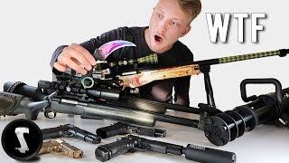 Silo's Crazy Airsoft Weaponry Collection (Landmine, Minigun, Karambit Fade)