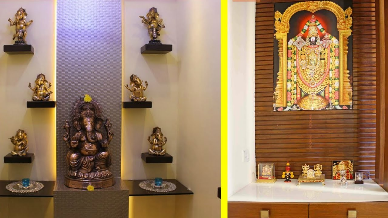 Modern Pooja Room Designs - YouTube