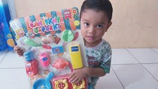 Zefa buka hadiah mainan anak balita peralatan dapur masak memasak   Kitchen set toys review