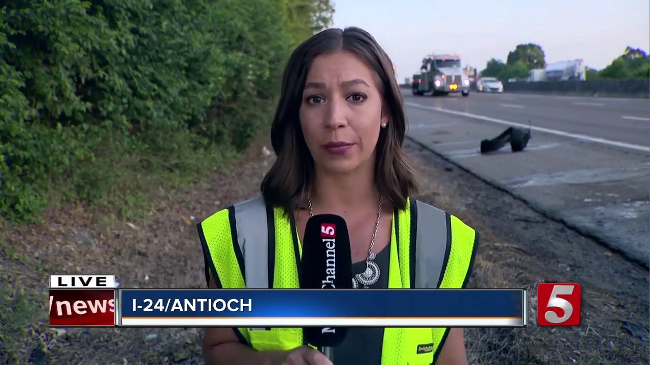 Crash Involving Semi Slows Traffic On I-24 In Nashville