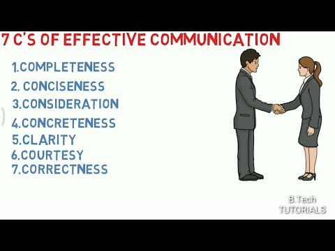 7 C's Of Effective Communication.
