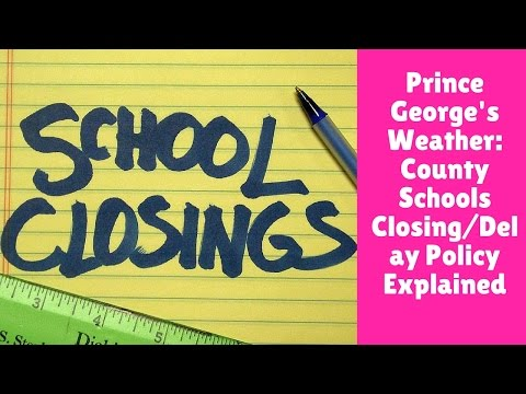 Prince George's Weather: County Schools Closing/Delay Policy Explained