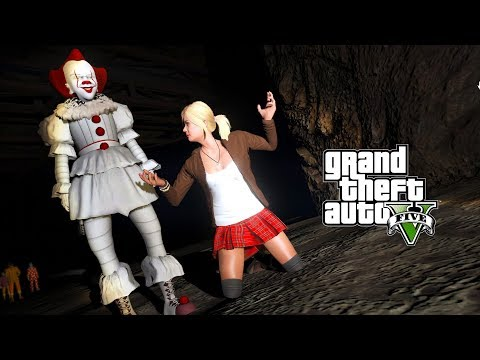PENNYWISE KIDNAPPED TRACEY!!! SAVING MY FAMILY (GTA 5 PENNYWISE IT MOVIE MOD)