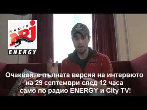 Interview with Enrique X-clusive on radio ENERGY Bulgaria