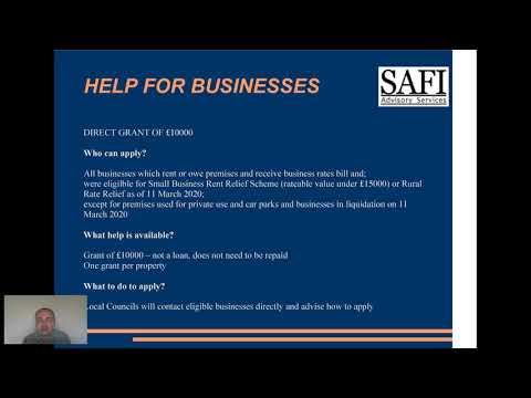 Podsumowanie dostepnej pomocy dla firm oraz osob prywatnych w Wielkiej Brytanii - COVID-19