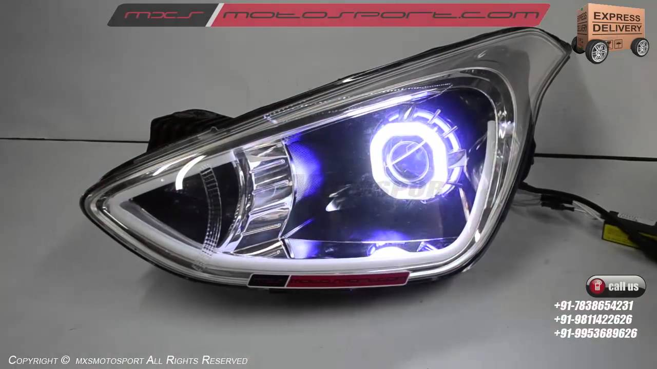 V514 Projector Headlights With Drl S Hyundai Grand I10 By