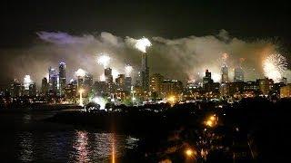 Melbourne 2013 New Year's Eve fireworks - Point Ormond, Elwood, Australia